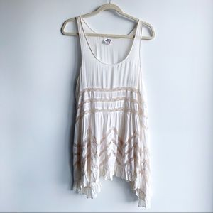 FREE PEOPLE Voile and Trapeze Slip Lace Dress